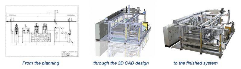 From the planning through the 3D CAD design to the finished system